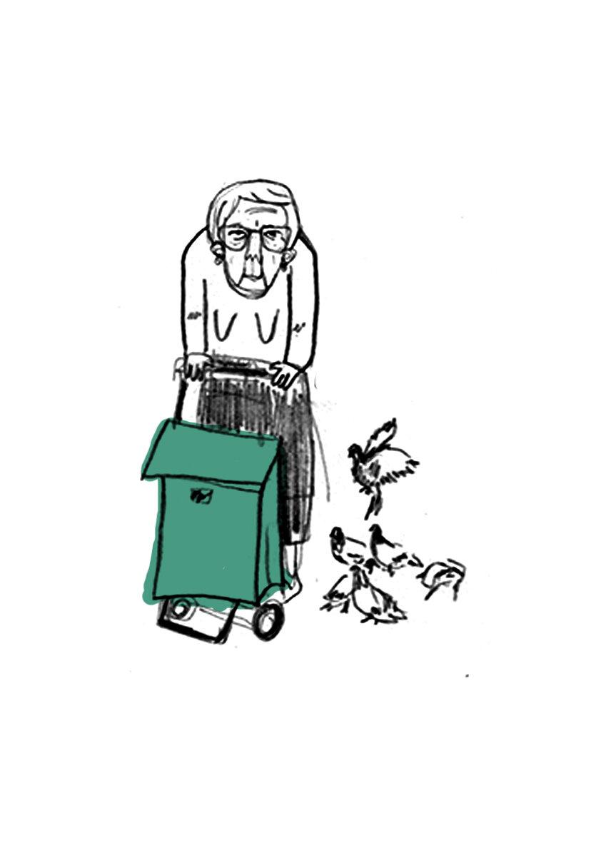Carmina culpa al ayuntamiento, lo que le mueve a hacer este activismo suyo día sí, día también, es su angustia porque las aves mueran, y entonces vengan plagas de langostas y mosquitos y acaben con todo. Carmina está convencida de que esta situación es una señal del cielo, el señor nos está diciendo algo.